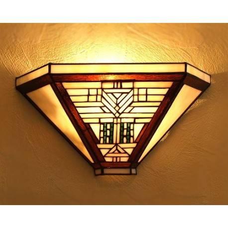 Wandlampe im Tiffany Stil W36