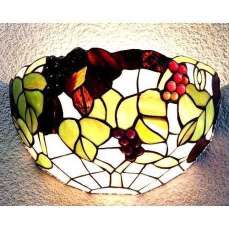 Wandlampe im Tiffany Stil J08