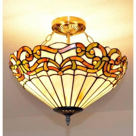 Deckenleuchte im Tiffany Stil D143