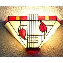 Wandlampe im Tiffany Stil J37