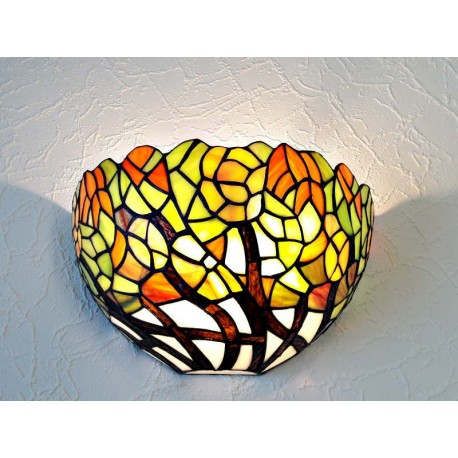 Wandlampe im Tiffany Stil W09