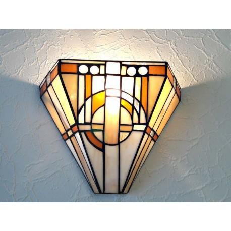 Wandlampe im Tiffany Stil W35