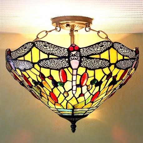 Deckenleuchte im Tiffany Stil F85