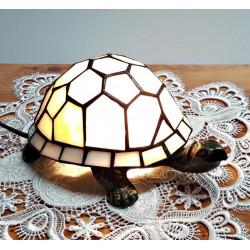 Tischleuchte Schildkröte beige im Tiffany Stil K172