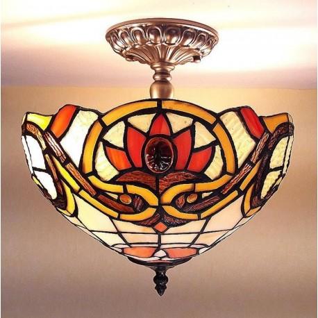 Deckenleuchte im Tiffany Stil D184