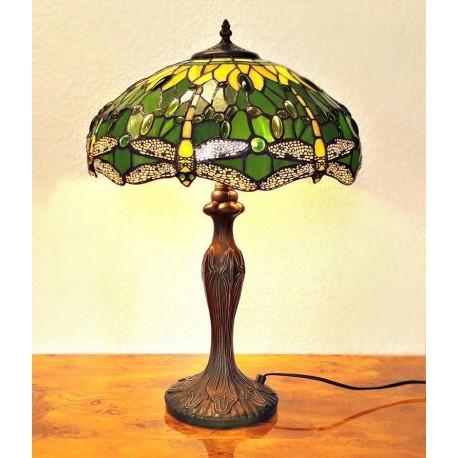 Tiffany Tischleuchte im Tiffany Stil Tischlampe grün A192