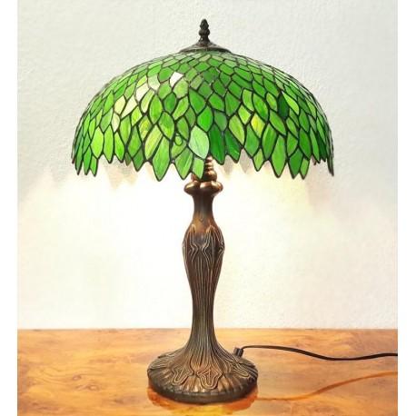 Tiffany Tischleuchte im Tiffany Stil Tischlampe grün A196