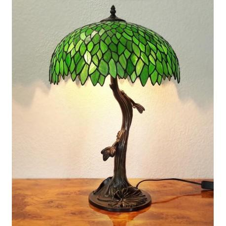 Tiffany Tischleuchte im Tiffany Stil Tischlampe grün A197