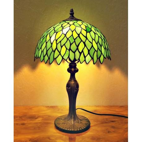 Tiffany Tischlampe Tischleuchte im Tiffany grün Stil T311
