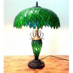 Tiffany Tischleuchte grün im Tiffany Stil T314